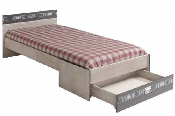 Parisot Fabric - Bett mit Schubkasten 90 x 200 cm Kinder und Jugendbett